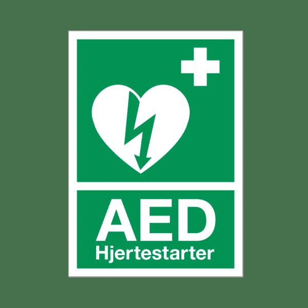 AED label/klistermærke, A4