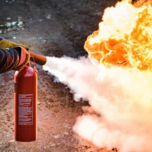 Førstehjælpskursus i Elementær brandbekæmpelse