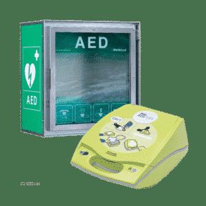 ZOLL AED Plus hjertestarter + CA HSS100 hjertestarterskab