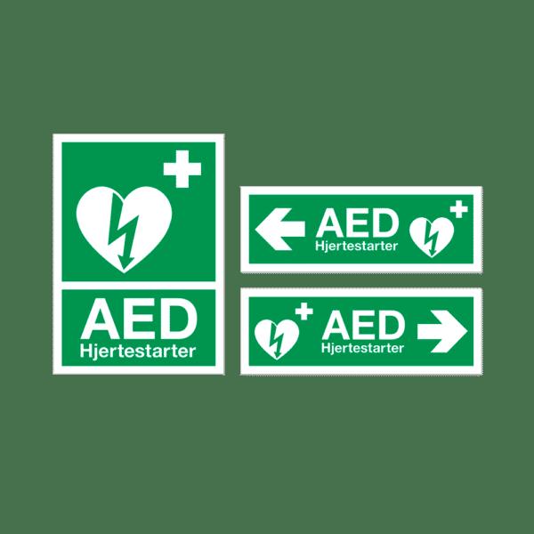 ZOLL AED Plus hjertestarter - hjertestarterskilte