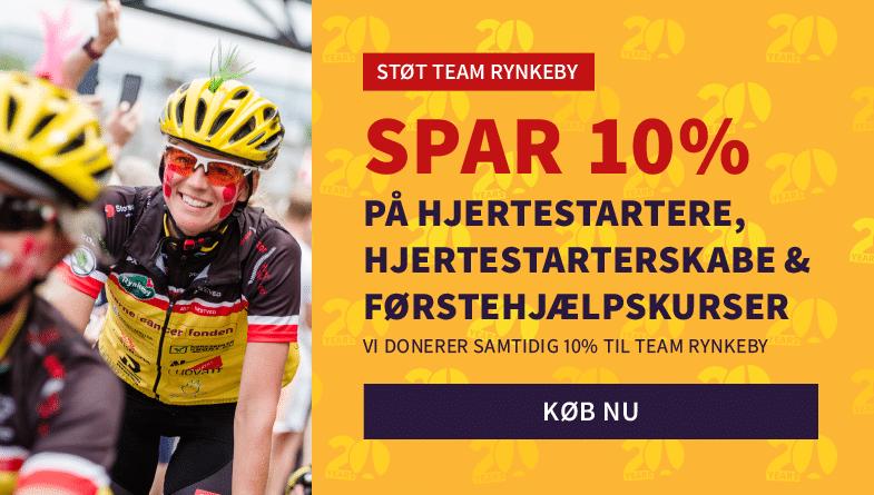 STØT & SPAR. Støt Team Rynkeby og få 10% rabat